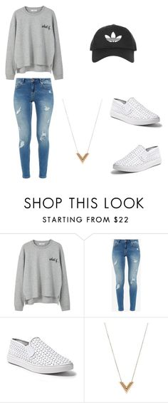 """""""Cute"""" by cheleis ❤ liked on Polyvore featuring MANGO, Ted Baker, Steve Madden, Louis Vuitton and Topshop"""