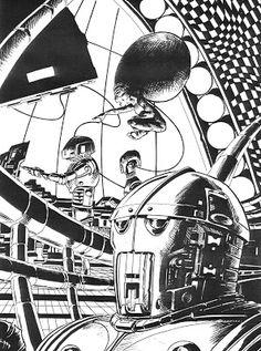 Quique Alcatena April 06 2020 at Space Fantasy, Cool Art, Awesome Art, Art Pages, Surrealism, Science Fiction, Sci Fi, Comics, Retro