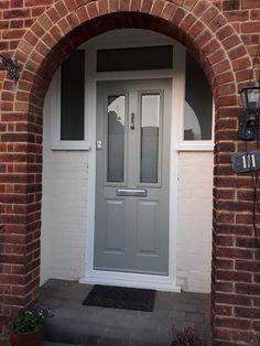 Gallery - The Urban Door Company Grey Front Doors, Composite Front Door, Porch, Garage Doors, Cottage, Urban, Gallery, Interior, Outdoor Decor