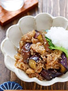Eggplant and pork belly with sweet and sour teriyaki - Food - レシピ Pork Recipes, Wine Recipes, Asian Recipes, Real Food Recipes, Great Recipes, Snack Recipes, Cooking Recipes, Favorite Recipes, Cafe Food