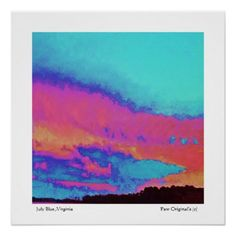 #party - #July-Blue-Fine-Art-Limited-Edition-Impressionist Poster
