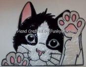 Peek A Boo Cat Static Window Cling