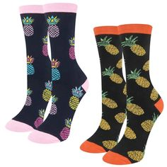 New Women/'s Novelty Flamingo Tropical Printed Cotton Rich Trainer Liner Socks