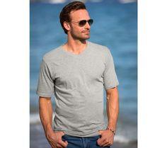"Tričko s výstrihom do ""V"", sada 3 ks T Shirt, Model, Mens Tops, Products, Fashion, Polo Dress Shirts, Men Wear, Sleeve, Cotton"
