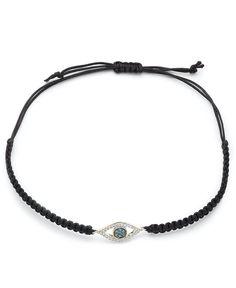 wrapped Diamond Evil Eye Parachute Cord Bracelet (1/6 ct. t.w.) in YellOra
