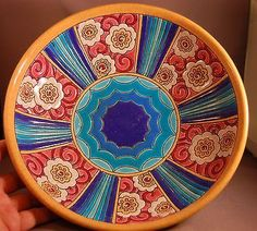 Longwy French Enameled Art Deco Footed Centerpiece Bowl