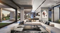 New Contemporary Constantia home_LivingRoom_Del Fante Design Architects_ Cape Town Contemporary design House #Architecture #Contemporary #Entrance #DarkGreyHouse #OffShutterConcrete