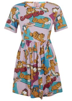 Lazy Oaf x Garfield Mega Field Dress http://www.lazyoaf.com/womens-designer-dresses