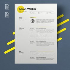 Touche de couleur modern resume design resume template word cv template word cv design curriculum vitae free resume template teacher resume with photo Resume Design Template, Cv Template, Resume Templates, Design Websites, Online Web Design, Cv Ingenieur, Cv Pdf, Web Design Tutorial, Cv Inspiration