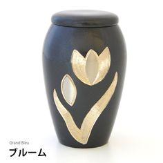 仏壇に入れられる分骨用ミニ骨壷・グランブルーブルーム