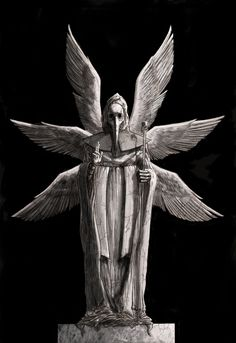 Plague Angel Grave by ~iangoudelock on deviantART. I would love this as a big gallery-wrapped canvas. Dark Fantasy, Fantasy Art, Arte Punk, Occult Art, Cemetery Art, Plague Doctor, Rabe, Arte Horror, Wow Art