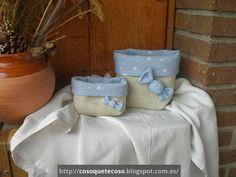 CosoQueTeCoso: Dos cestas de arpillera y loneta