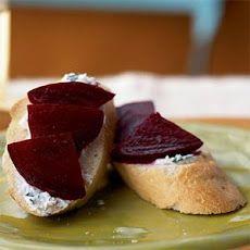 Beet and Goat Cheese Crostini