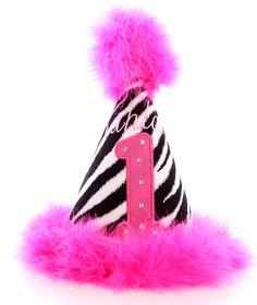 Zebra party hat