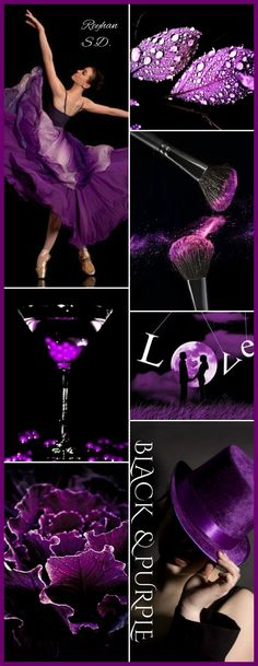 '' Black & Purple '' by Reyhan S.D.