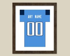 Tennessee Titans Team Colors Poster Print  Jersey by CSportImages