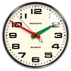 Buy Newgate Brixton Wall Clock, Dia.40cm, Chrome Online at johnlewis.com