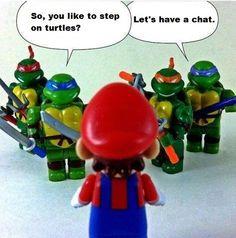 TMNT v. Mario | Teenage Mutant Ninja Turtles Nintendo Super Mario