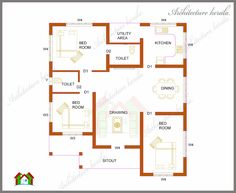 Architecture Kerala Three Bedrooms In 1200 Square Feet Kerala House Plan