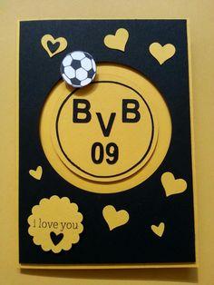 JV Papercrafts: BVB-Kullerkarte, Spinner card / Fußball-Karte