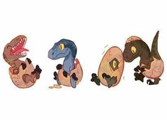 Jurassic Movies, Jurassic World Dinosaurs, Jurassic Park World, Dinosaur Drawing, Dinosaur Art, Cute Dinosaur, Animal Drawings, Cute Drawings, Chibi