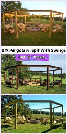 DIY Pergola Firepit Swings Tutorial