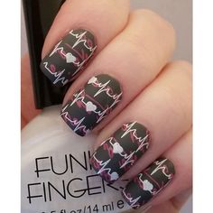 50 Valentine's Day Nail Art Ideas | Art and Design ❤ liked on Polyvore featuring nails