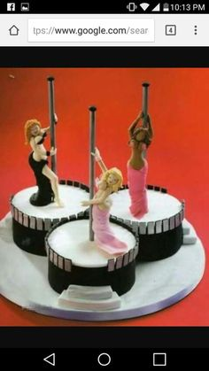 Your last Dance /strip take cake bachelor party