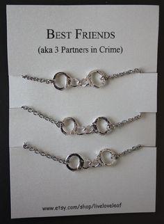 three-way best friend necklace - Google Search
