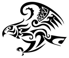 TATTOO TRIBES: Tattoo of Hawk, Messenger, observer tattoo,hawh messenger observer falcon tattoo - royaty-free tribal tattoos with meaning Tribal Tattoos, Tribal Tattoo Designs, Celtic Tattoos, Star Tattoos, Geometric Tattoos, Sleeve Tattoos, Wing Tattoos, Polynesian Tattoos, Tattoo Ink