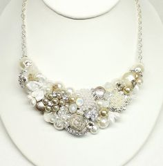Hey, I found this really awesome Etsy listing at https://www.etsy.com/listing/196172050/champagne-bridal-statement-necklace