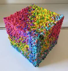 colorful 3D printed pixel art