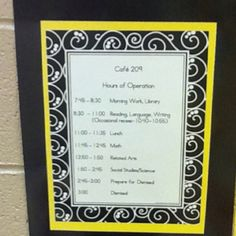 Cafe theme schedule