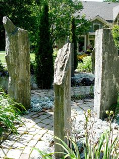 Spiritual Labyrinth Garden with Meditation Spot by AguaFina Pictures on