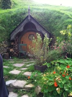 I would have used it as a playhouse. It looks like it came from the Shire in Lord of the Rings!