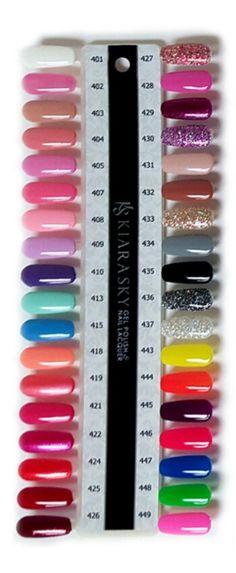 Kiara Sky dip powder swatches