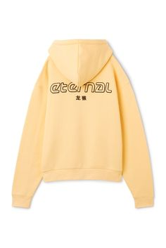 Weekday Ailin Printed Hoodie in Yellow Reddish Light