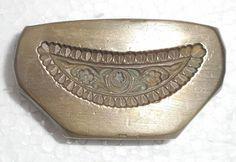 India Vintage Bronze Big die Mold/Mould hand engraved Necklace designs x580
