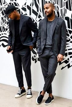 suits and sneakers... everyday. For Everyone. Blog @ #DapperNDame Pinterest. dapperanddame.com