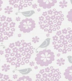 Nursery Fabric Birds On Flowers SwaddleNursery Fabric Birds On Flowers Swaddle,