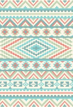 Pattern/Design/Art/Illustration/inspiration    Hipster Pastel tribal pattern