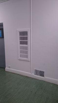 Vent behind boiler in music room, Site Visit, Boiler, Garage Doors, Music, Outdoor Decor, Room, Home Decor, Musica, Bedroom