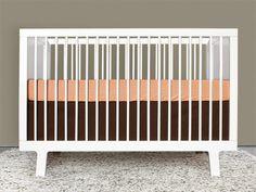 orange crib sheet
