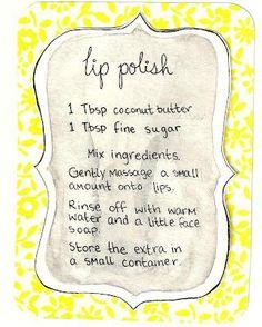 DIY lip polish