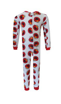 Sesame Street Elmo Cotton Toddler Onesie Pajamas Cotton and comfy! These one piece long pant long sleeve pajamas for toddlers f...