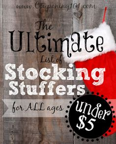 The Ultimate List of Stocking Stuffers : 100 Days of Homemade Holiday Inspiration