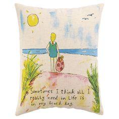 Beach Bag Pillow.