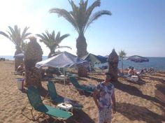 At the private beach of Skaleta! Living luxurious and healthy!