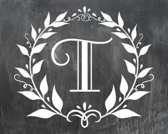 Customized Family Initial Monogram Wreath - Vintage Music or Chalkboard Look - 16 x 20 Shipping Included for US Only. $40.00, via Etsy.