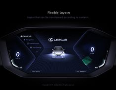 Car Cluster on Behance Car Ui, Dashboard Car, Dashboard Design, Lexus Es, Website Design Layout, Design Language, Game Design, Ux Design, Automotive Design